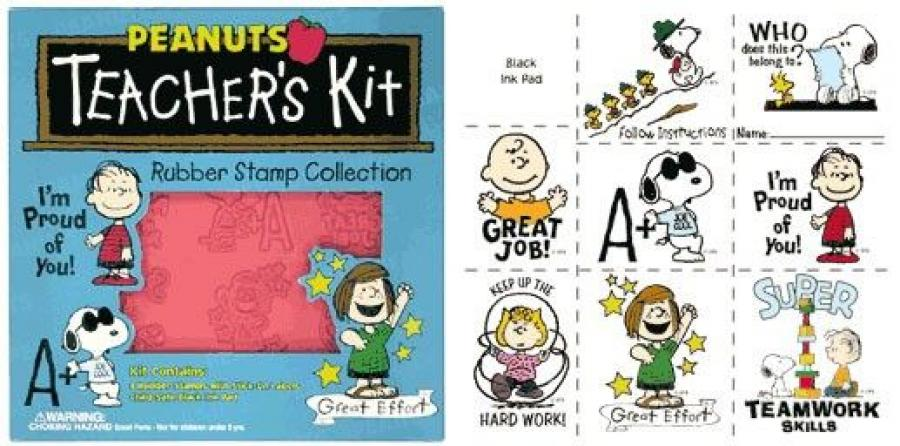 Peanuts Teacher's Rubber Stamp Collection