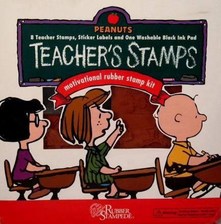 Peanuts Teacher's Rubber Stamp Collection (Used But Near Mint Condition)