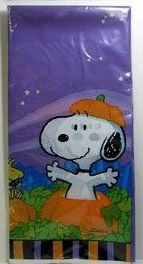 Snoopy Halloween Reusable Plastic Table Cover
