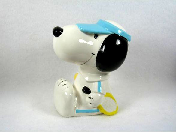 SNOOPY HAT SERIES BANK - TENNIS PLAYER