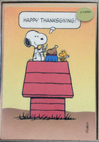 Snoopy Vintage Thanksgiving Card Set