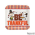 Peanuts Thanksgiving Dinner Plates - Be Thankful