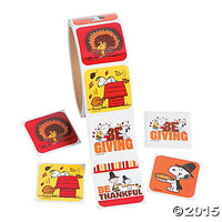 Peanuts Gang Thanksgiving Sticker Set