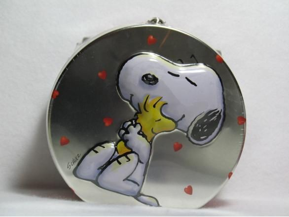 Snoopy and Woodstock 2-D tin