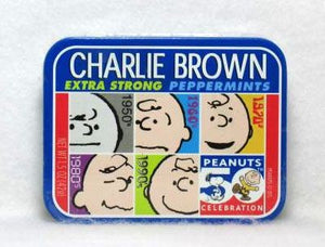 Charlie Brown 50th Anniversary Mints tin