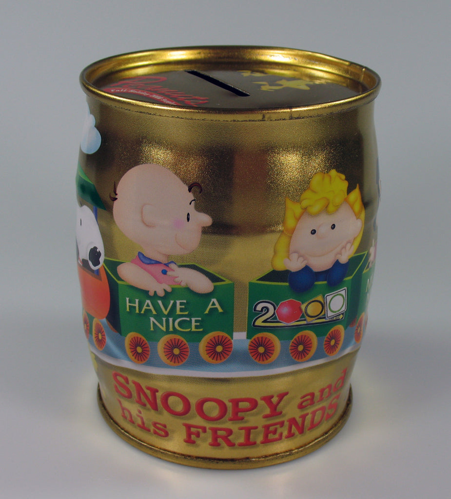 Snoopy Barrel-Shaped Tin Bank (NO Stopper)