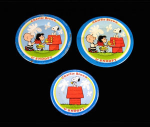 Charlie Brown and Snoopy tin dish set
