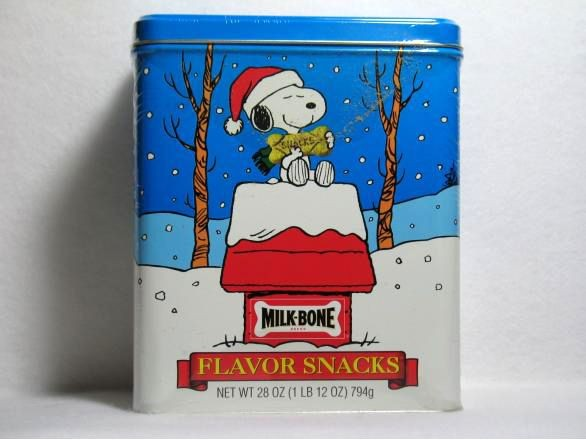 Snoopy Milk-Bones tin