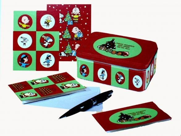 Peanuts Holiday Note Card Gift Set in Collectible Tin - PRICE REDUCED!