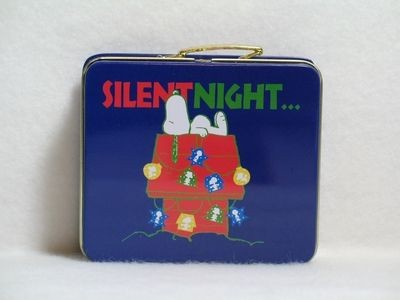 Silent Night Miniature Tin Lunch Box