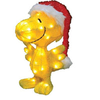 3-D Soft Lighted Tinsel Yard Art - Woodstock Christmas