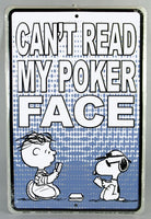 Linus Tin Wall Sign - Poker Face