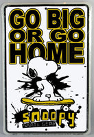 Snoopy Tin Wall Sign - Skateboarder