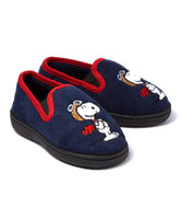 Flying Ace Micro-Suede Toddler Slippers (Navy)