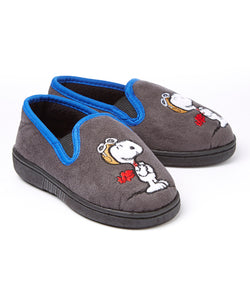 Flying Ace Micro-Suede Toddler Slippers (Gray)
