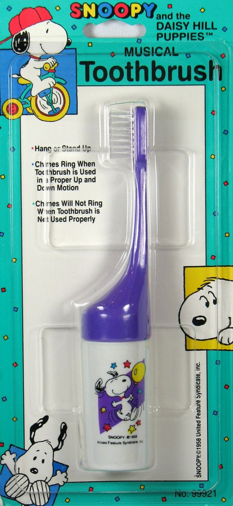Snoopy Musical Toothbrush For Children - Purple