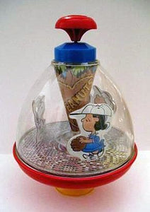 Peanuts Gang Baseball players tin top