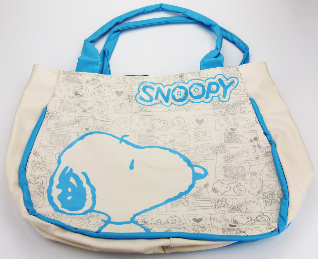 Snoopy Leather-Like Tote Bag