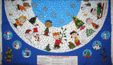 Peanuts Quilted Tree Skirt or Table Round Cover Panels