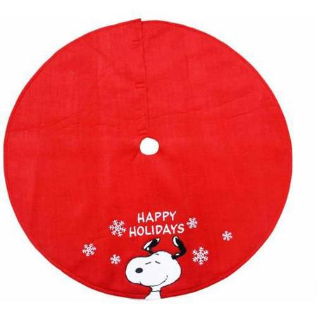 Peanuts Velour Christmas Tree Skirt - Happy Holidays