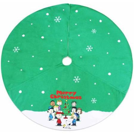 Peanuts Gang Christmas Tree Skirt - Merry Christmas