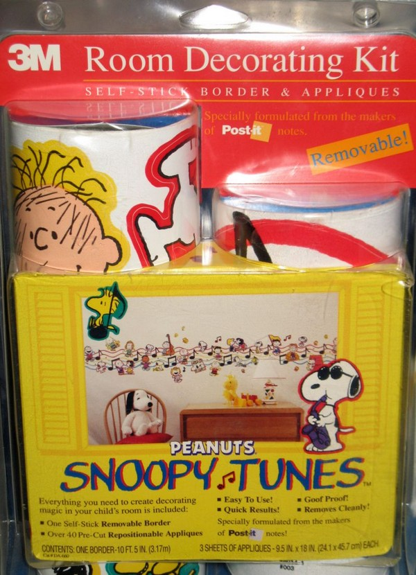 Snoopy Tunes Wallpaper Border & Appliques