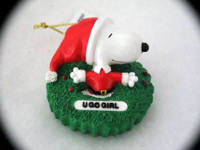 SNOOPY U GO GIRL ORNAMENT