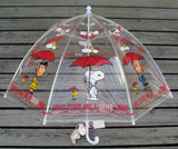 Peanuts Clear Vinyl Umbrella For Kids