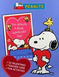 Snoopy and Woodstock Fun Activity Valentine's Day Cards