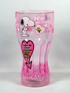Blinking Lights Valentine's Day Drinking Glass - Pink
