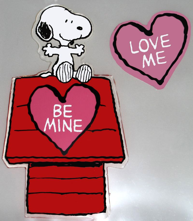 Snoopy Large 2-Piece Valentine's Day Jelz Window Clings
