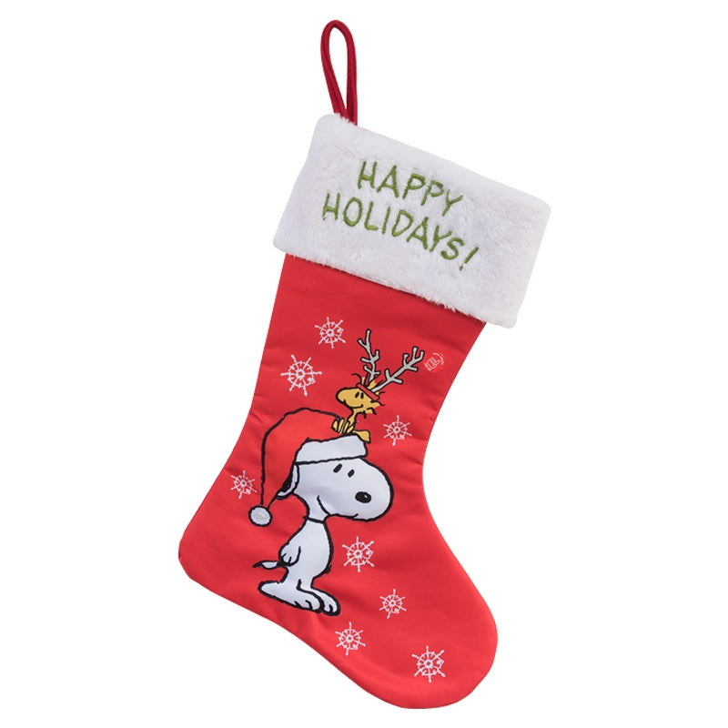 Snoopy Happy Holidays LED Lighted Christmas Stocking