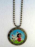 Snoopy and Lucy Vari-Vue Ball Chain Necklace
