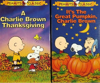 Peanuts Halloween and Thanksgiving VHS Video Gift Set