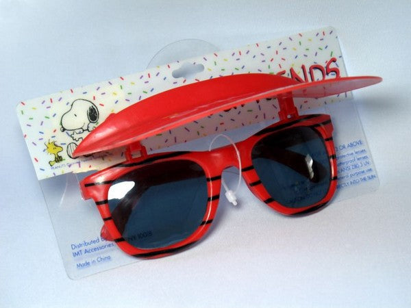 Snoopy and Friends Child's Sunglasses and Visor Set