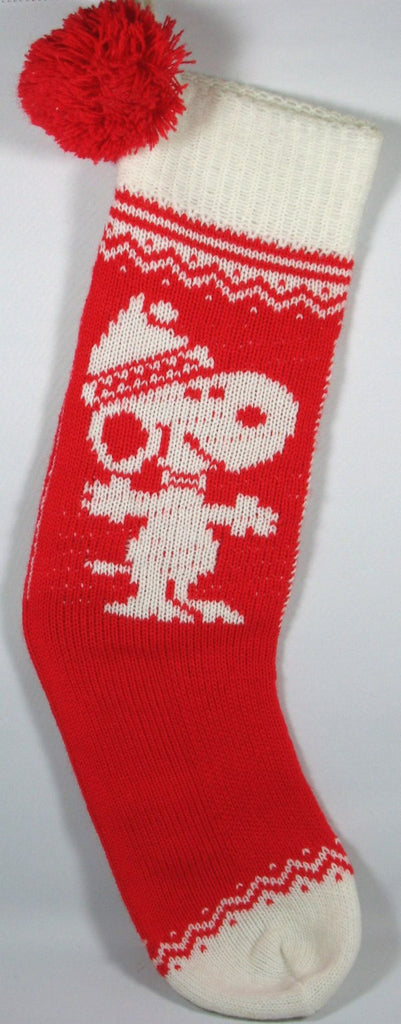 SNOOPY VINTAGE KNIT CHRISTMAS STOCKING