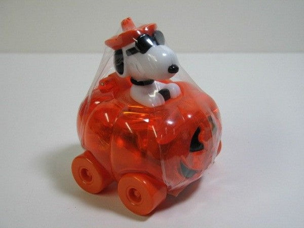 Snoopy Candy-Filled Toy Pumpkin Car - REDUCED PRICE!