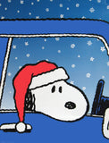 Peanuts Vinyl Wall Decor / Hallmark Store Display - Snoopy In Car