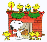Laminated Snoopy Christmas Wall Decor