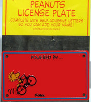 WOODSTOCK Tin License Plate