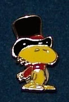 Woodstock Wearing Top Hat Enamel Pin