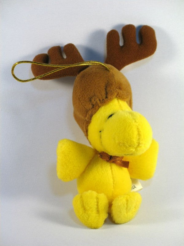 ADLER WOODSTOCK REINDEER PLUSH CHRISTMAS ORNAMENT