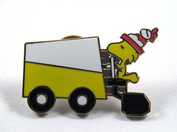 Woodstock Drives Yellow Zamboni Cloisonne Pin