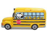 PEANUTS SCHOOL BUS CERAMIC BANK