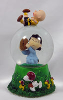 Charlie Brown and Lucy Football Musical Snow Globe - Aaugh!