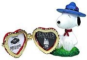 Snoopy Beaglescout Hinged Heart Picture Frame