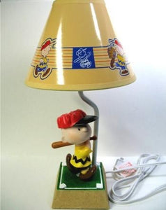 Charlie Brown Baseball Player Lamp