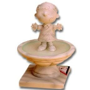 "Charlie Brown Around Town Figurine - ""Charlie Brownus Around Townus"""