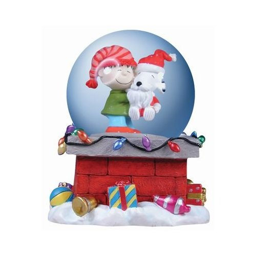 Snoopy and Rerun Musical Water Globe