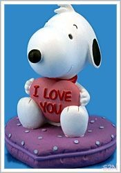 Baby Snoopy I Love You Figurine